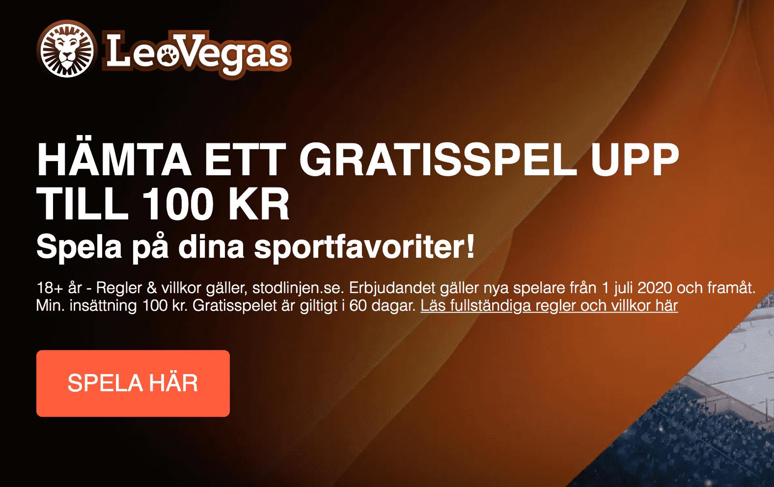 LeoVegas Gratisspel 100 kr